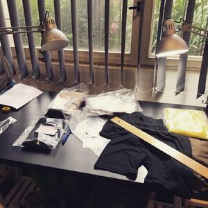 premereno - sedi na cm. damske prodlouzene spodni pradlo, jde za chvili do vyroby #bambutik